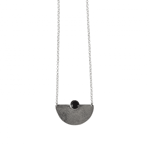 black onix sterling silver necklace