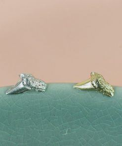 Shark tusk single earring
