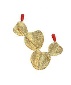 gold palas brooch back
