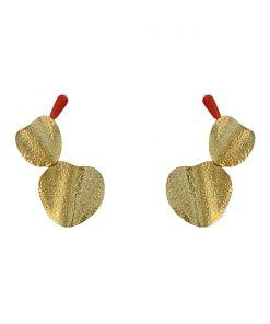 gold palas earrings