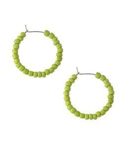 Vesta green hoop earrings