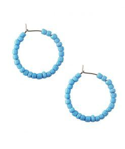 Vesta pastel blue hoop earrings