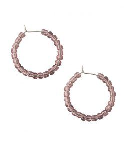 Vesta transparent purple hoop earrings