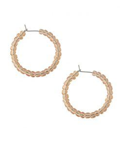 Vesta transparent orange hoop earrings