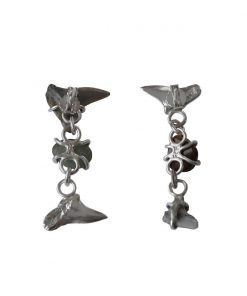 Dakuwaqa unequal long earrings silver 01 back