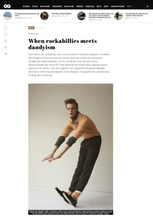 Jumping trendy boy. Preview GQ Portugal Rockabillies editorial with Myriam Moreno jewels.