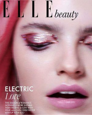 ELLE Magazine beauty preview editorial Make up Electric love With ear cuff featured