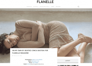 Screen shot Editorial On my own by Beatris Conca Bastida for Fanelle Magazine. With Miriam Moreno earrings.