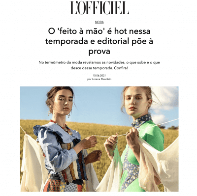 L'Officiel fashion article with jewelry online by Myriam Moreno