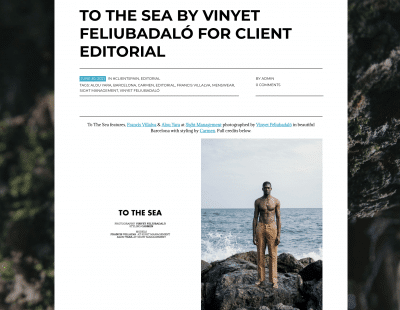 editorial client magazine to the sea jewelry and fashion online